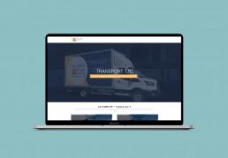 Site web Transport TJC, creation webdesign, UX UI